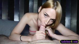 Big boobs Russian tranny pov blowjob and hard anal fucked xxx