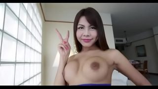 Fellow pokes an asian transsexual slut and spoils her tight asshole